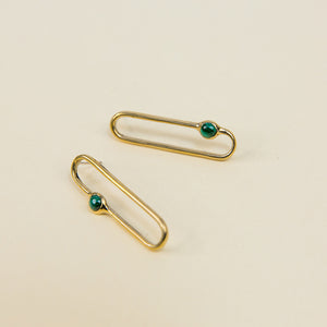Tiro Tiro Amparo Earrings Malachite