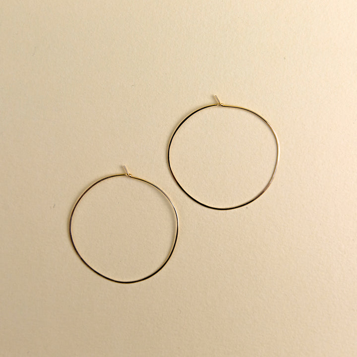 Extra Large Round Hoops - Gold
