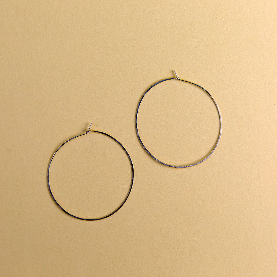 Extra Large Round Hoops - Silver