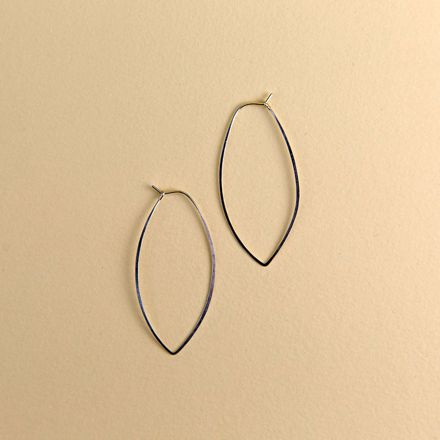 Large Oval Hoops - Silver