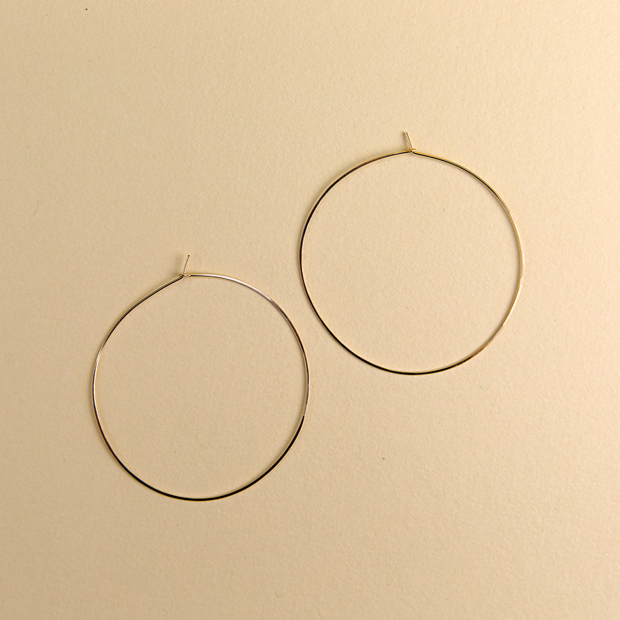 Double Extra Large Round Hoops - Gold
