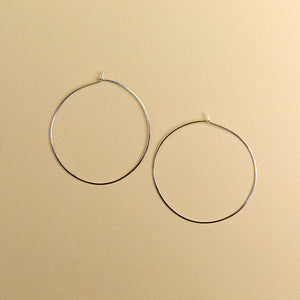 Double Extra Large Round Hoops - Silver