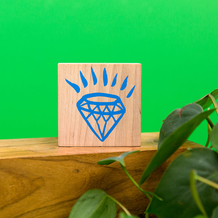 Diamond Rubber Stamp