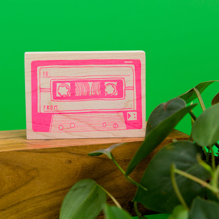 Mixtape Rubber Stamp