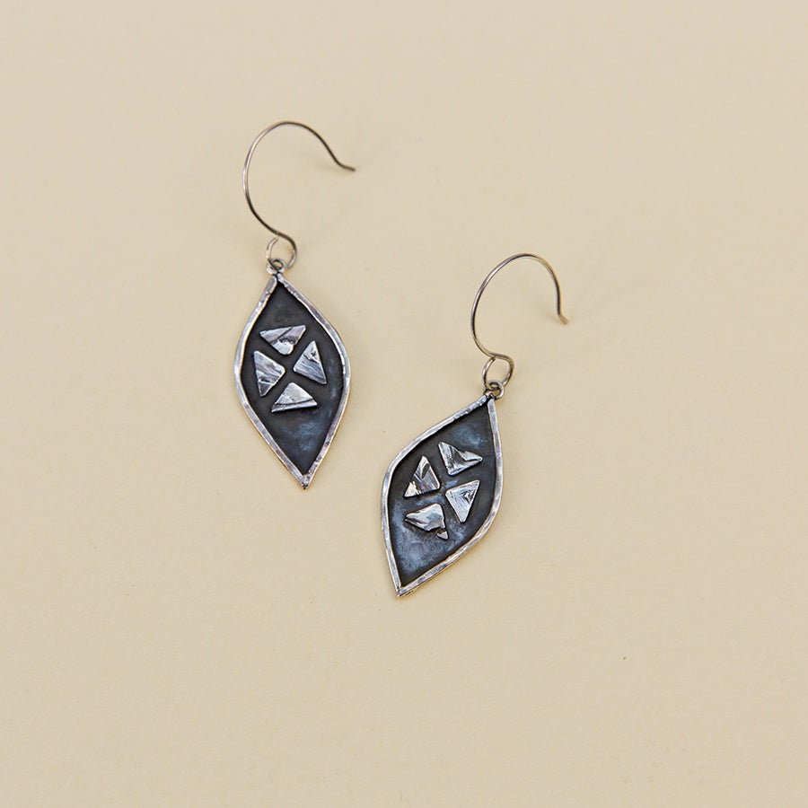 Four Pyramid Earrings