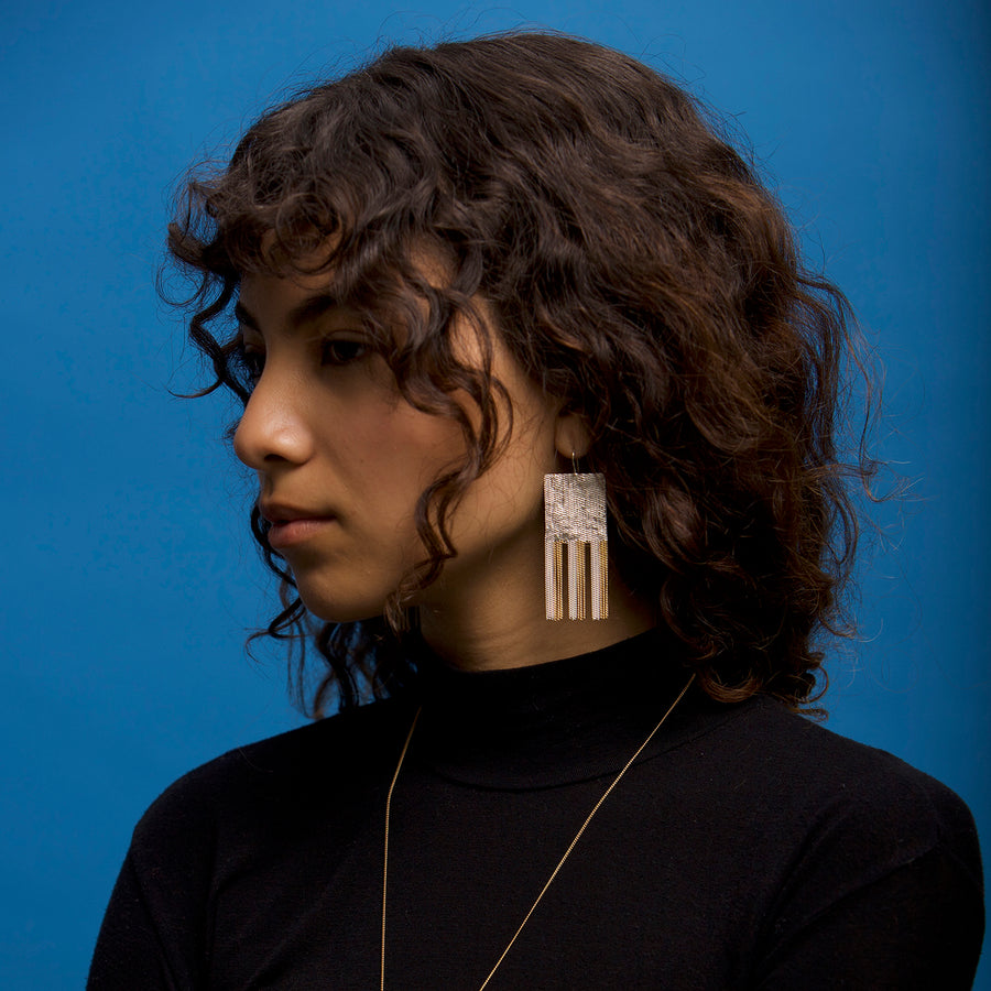 Athena Earrings (on model)