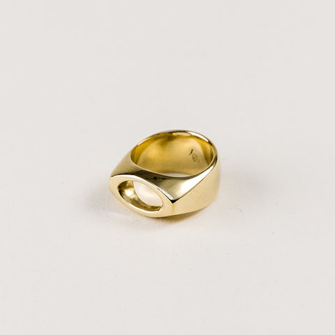 Oculus Polished Bronze Ring
