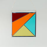 Stained Glass Sun Catcher - Square