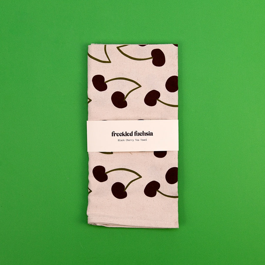 Black Cherry Tea Towel