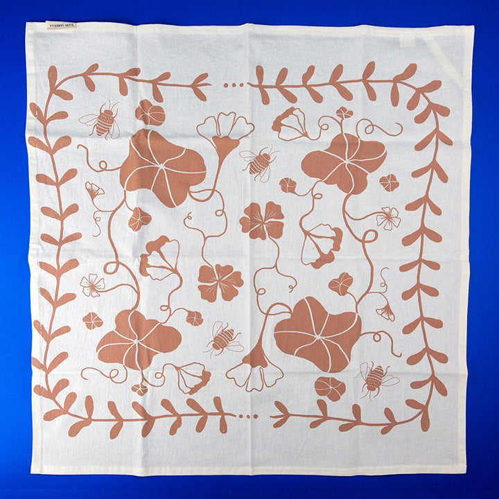 Cotton Tea Towel - Clay Nasturtium