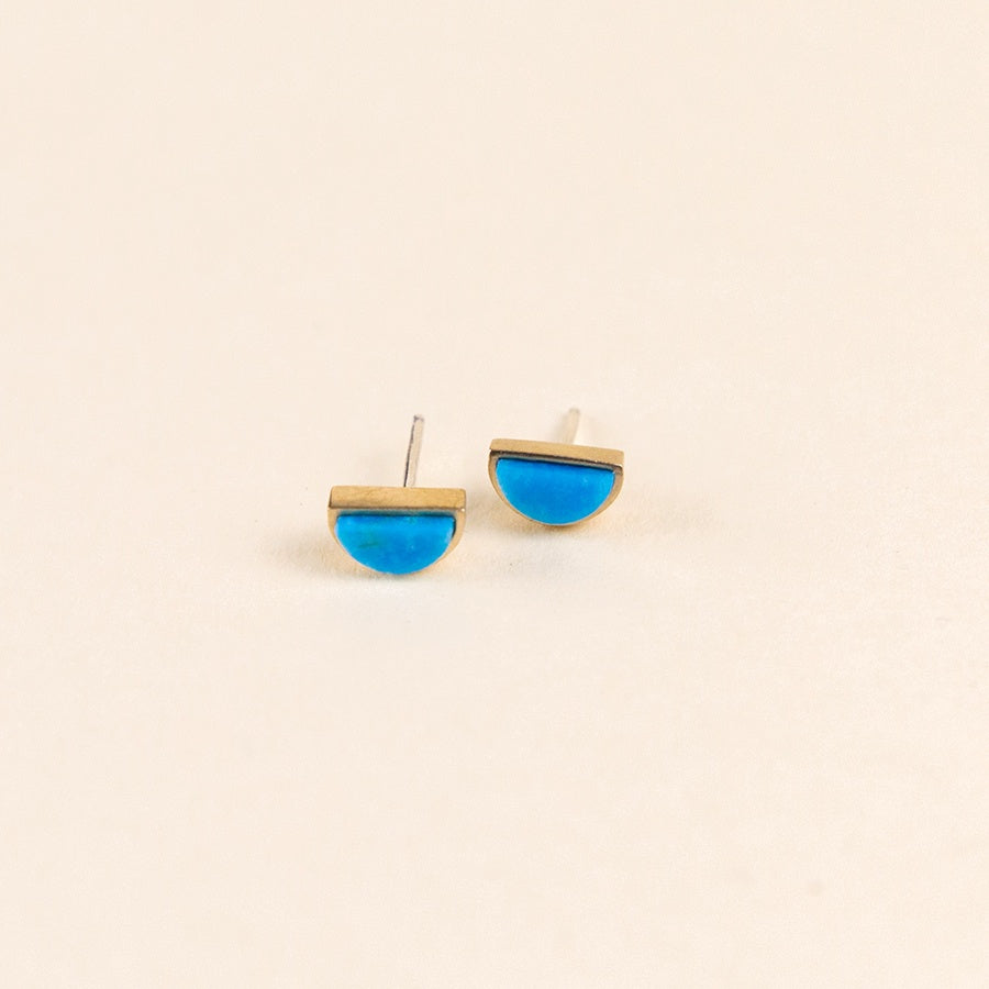 Sisa Stud Earrings - Bronze