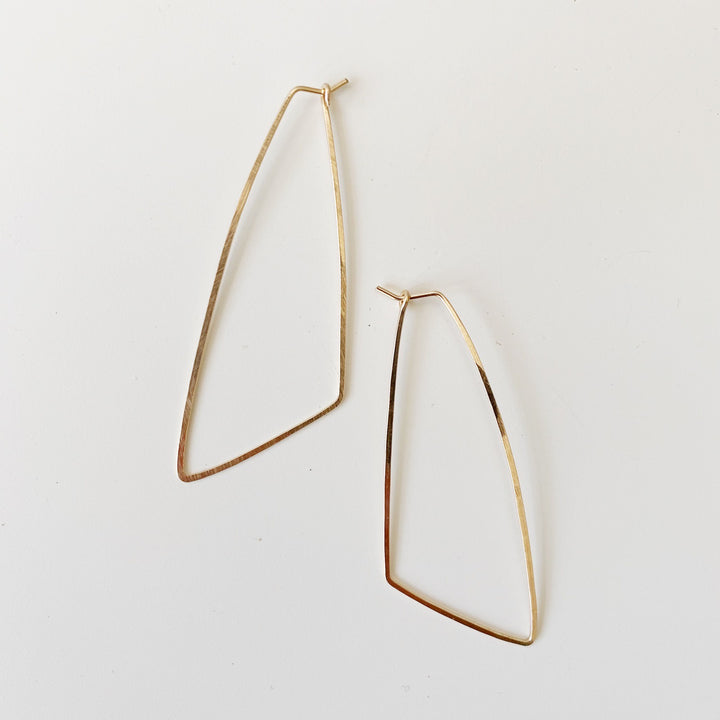 Large Wing Hoops - Gold
