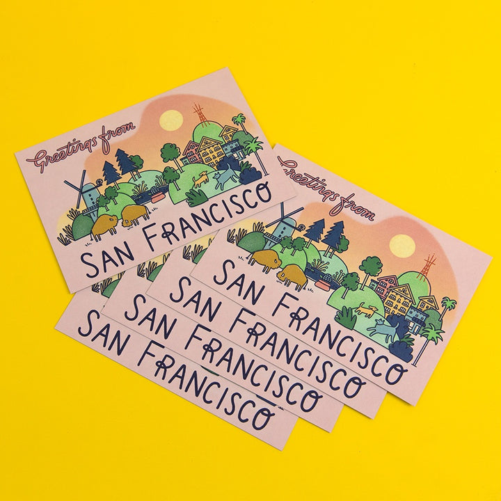 Greetings From San Francisco Postcards - Set of 5