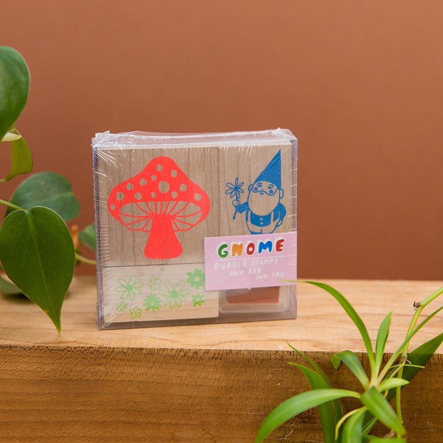 Gnome and Mushroom Stamp Kit