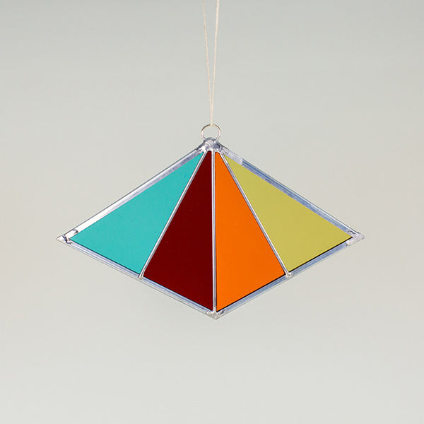 Stained Glass Sun Catcher - Diamond