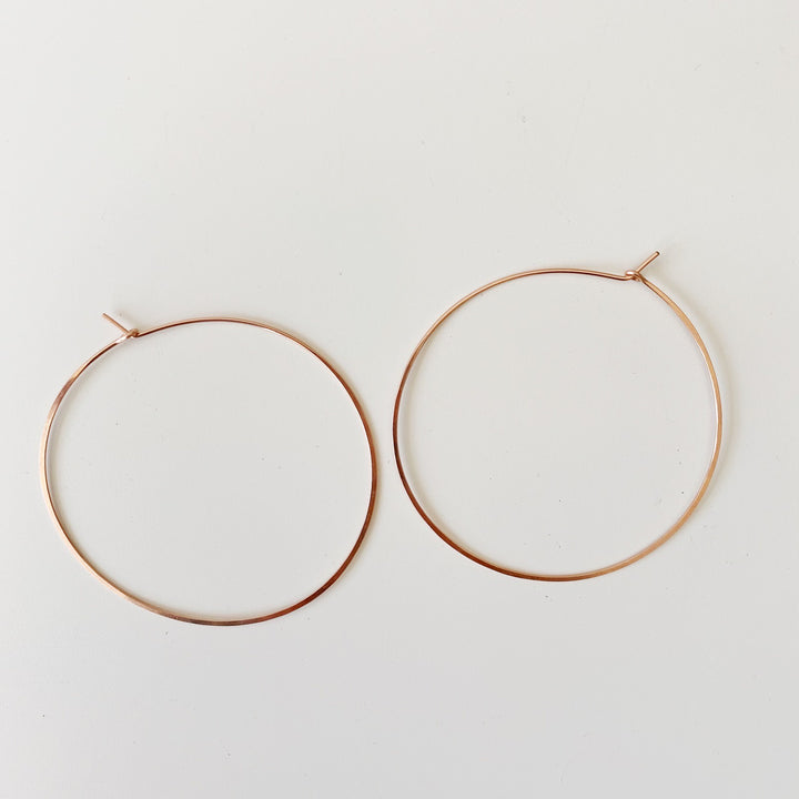 Extra Large Round Hoops - Rose Gold