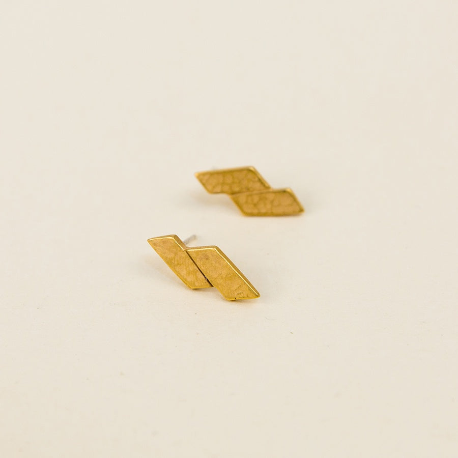 Parallel Post Earrings - Vermeil