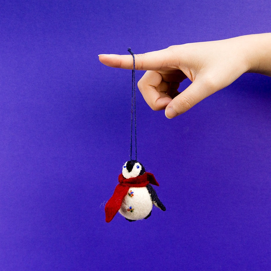 Little City Penguin - with Scarf Ornament