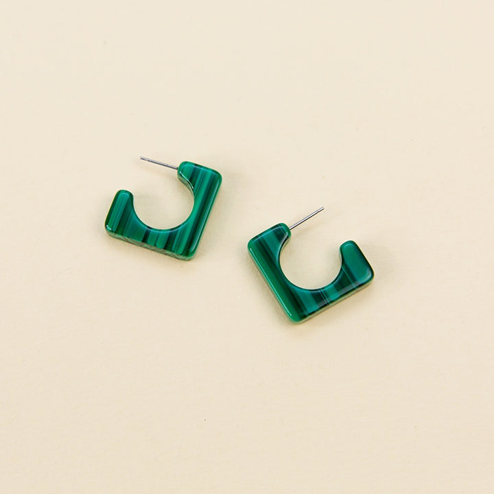 Atlas Hoops - Malachite