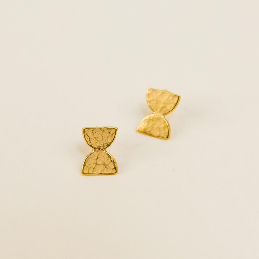 Dome Post Earrings - Vermeil
