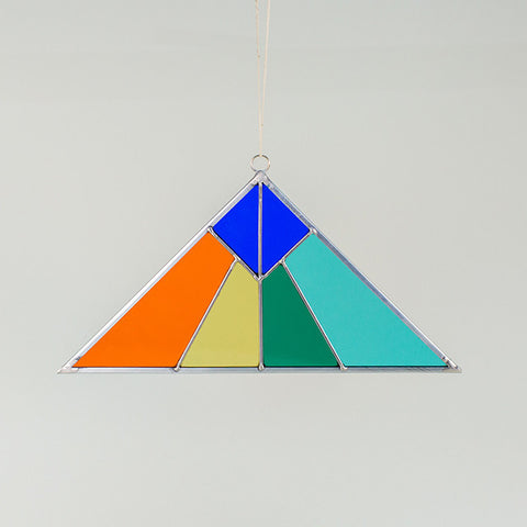 Stained Glass Sun Catcher - Pyramid
