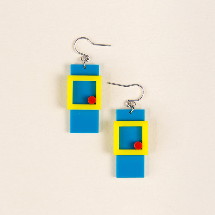 Recdot Earrings - Light Blue