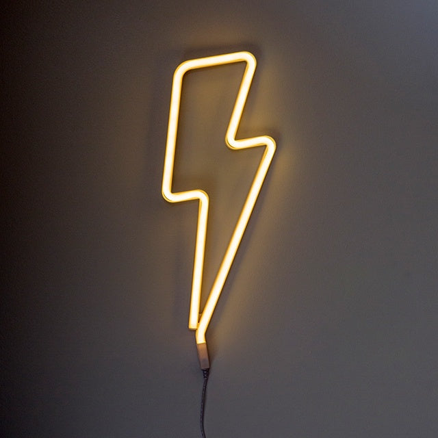 Yellow Lightning Bolt Light