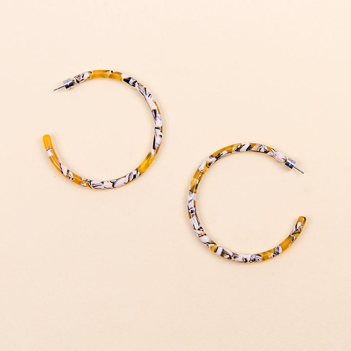 Large Hoops - Calico