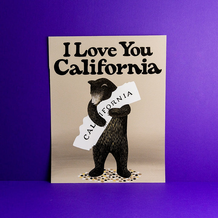 I Love You California Print 11 x 14