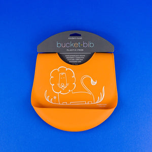 Bucket Bib - Orange Dandy Lion