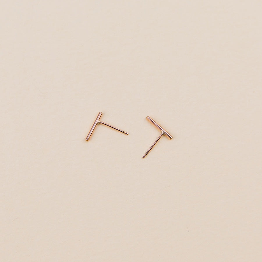 Stria Studs - Rose Gold