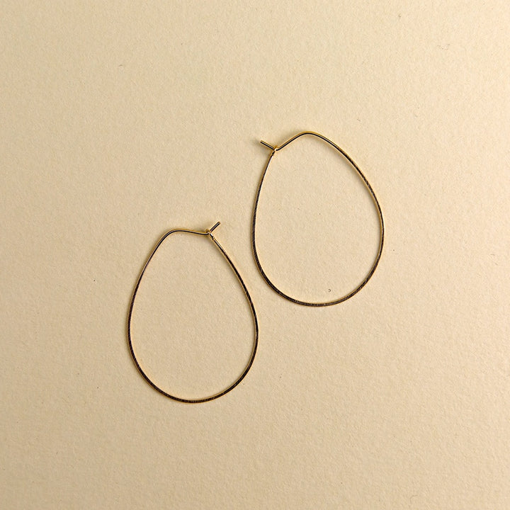 Large Egg Hoops - Gold