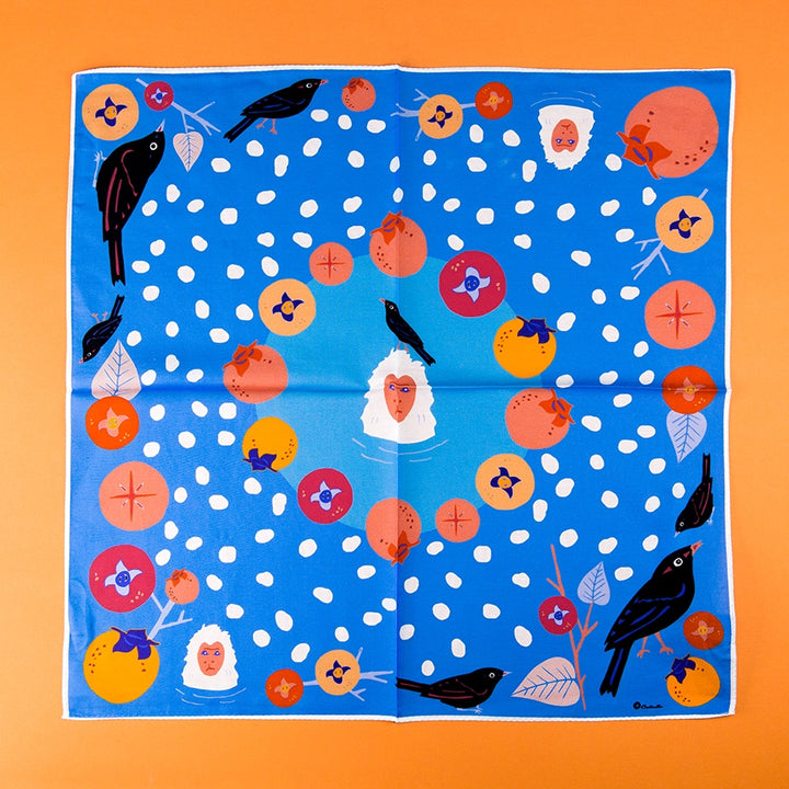 Bandana - Persimmons and Snow Monkeys in Yudanaka