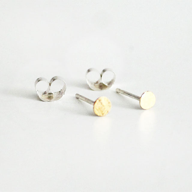 Tiny Dot Earrings 22K Gold