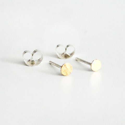 Tiny Dot Earring 22K Gold