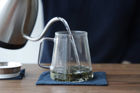 add water to tea