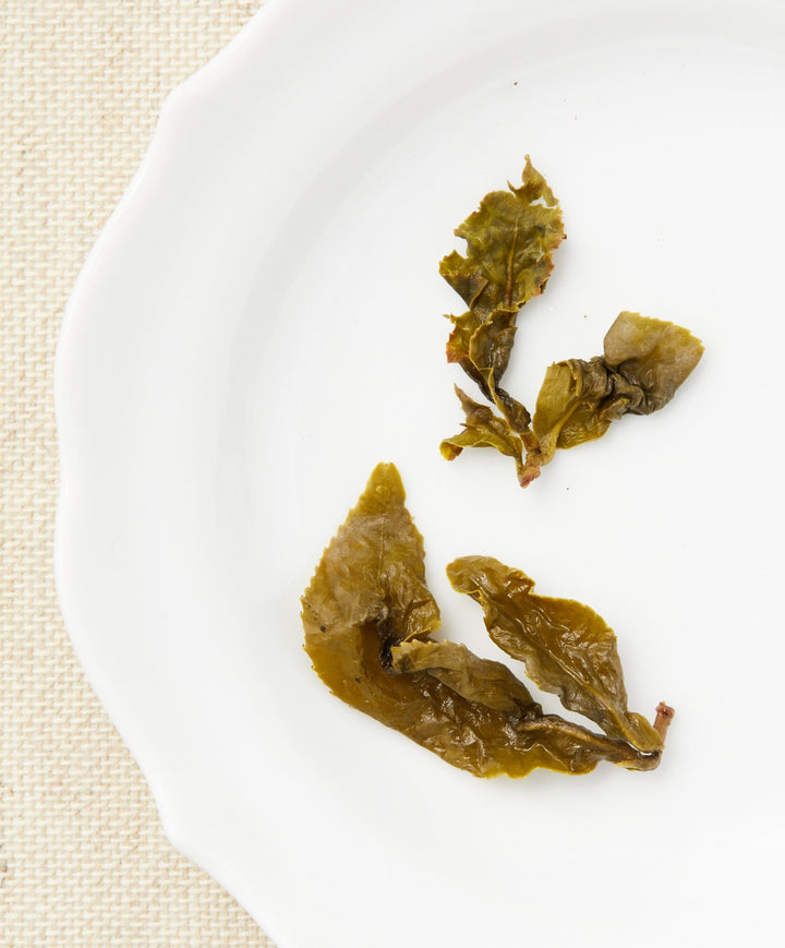four seasons spring oolong tea open leaf
