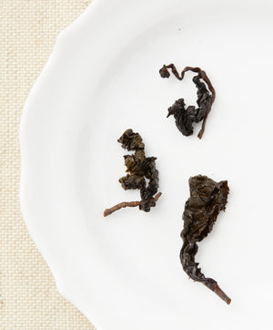 iron goddess of mercy oolong tea open leaf