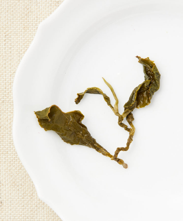 Li Shan oolong tea open leaf