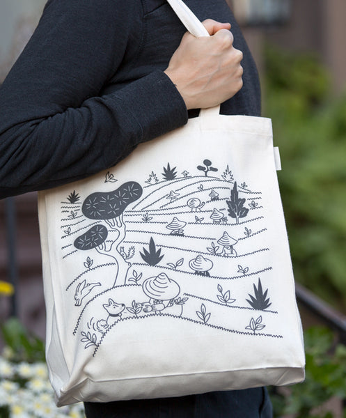 tea tote bag front