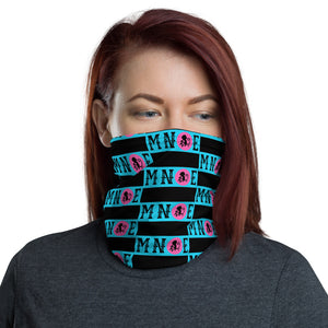 MNQE Brand Mask- Teal/Pink