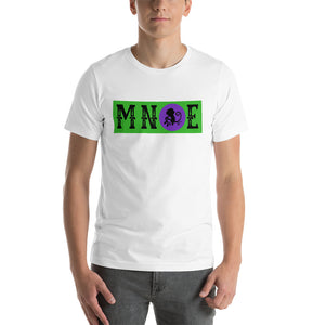 MNQE Brand T-shirt - Green/Purple