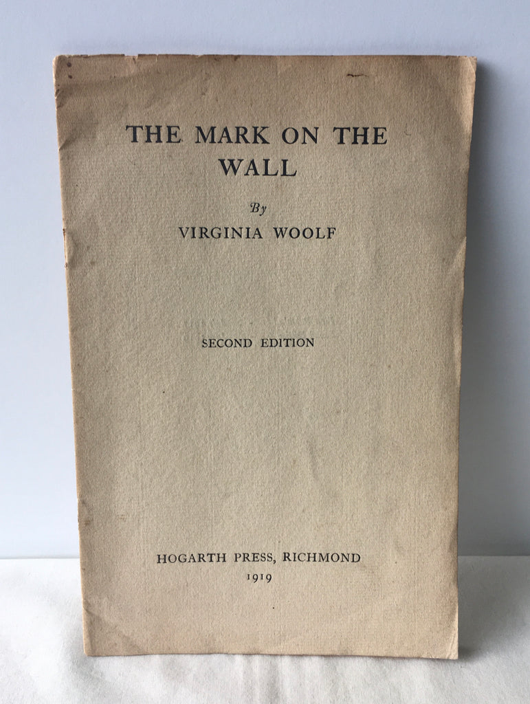 Virginia Woolf - The Mark on the Wall UK 2nd VG 1919