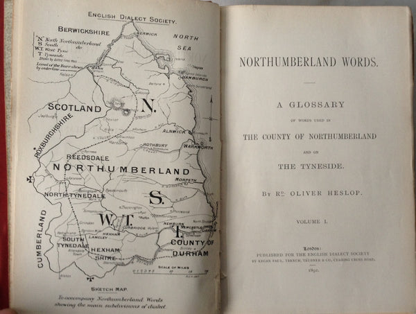 R Oliver Heslop - Northumberland Words - Signed - UK 1st 1892