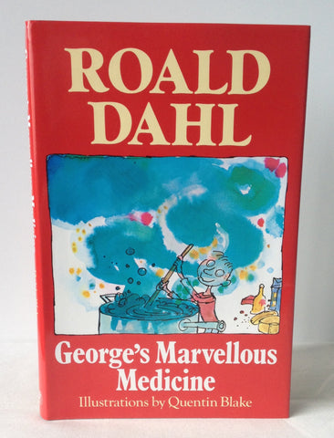 Roald Dahl - Signed - George's Marvellous Medicine UK DJ 1982