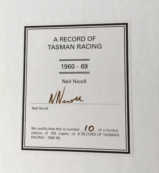 Neil Nicoll - A Record of Tasman Formula Racing 1960-1969