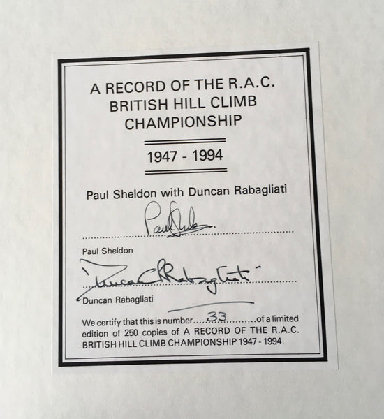 Paul Sheldon & Duncan Rabagliati - A Record of the R.A.C. British Hill Climb Championship 1947-1994