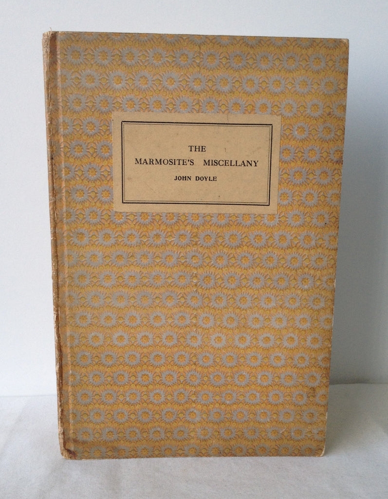 John Doyle (Robert Graves) - The Marmosite's Miscellany UK 1st 1925