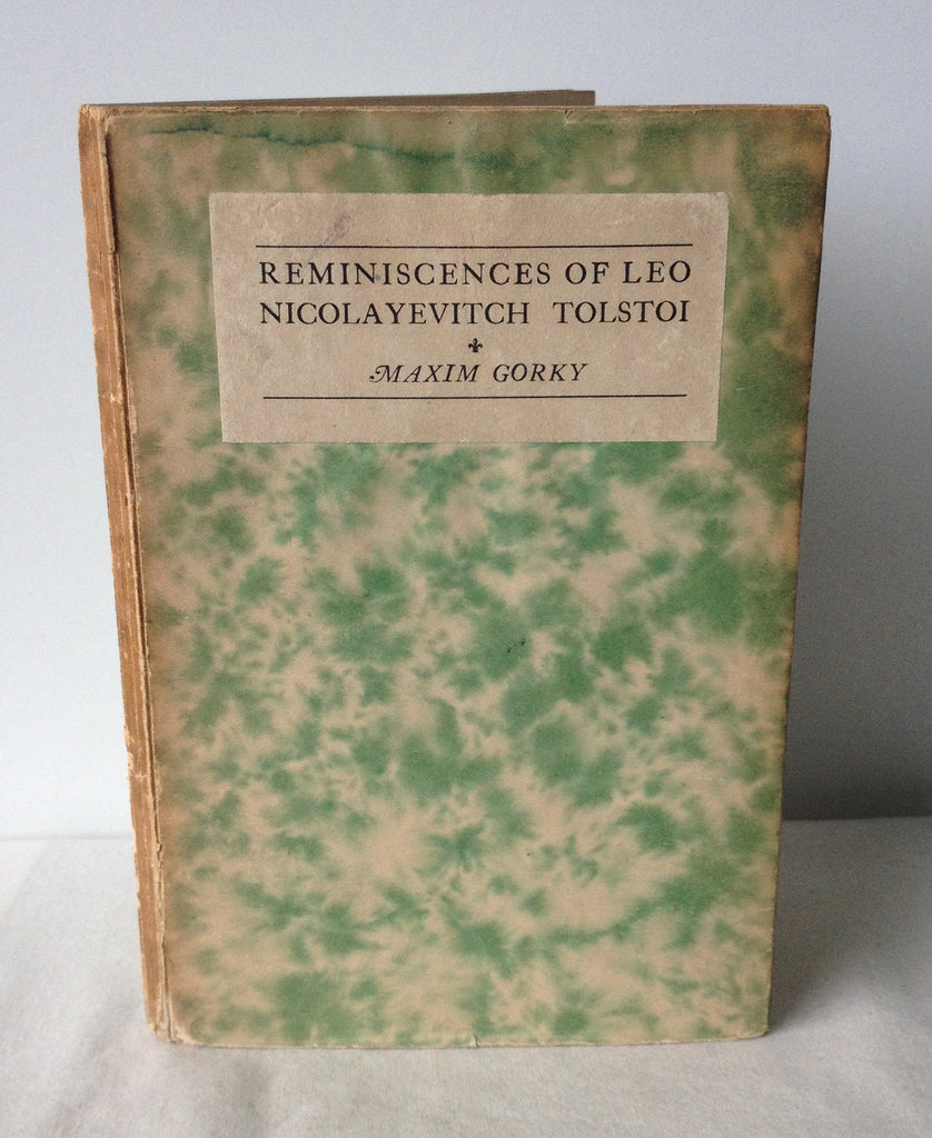 Maxim Gorky - Reminiscences of Leo Nicolayevitch Tolstoi UK 1st 1920