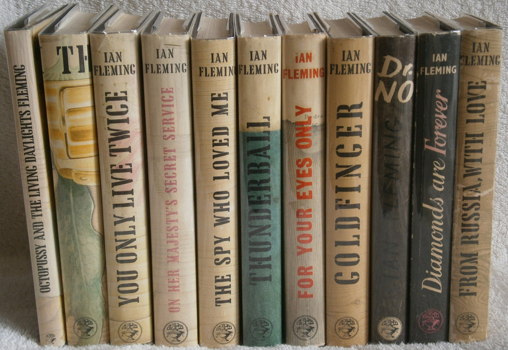 IAN FLEMING - DIAMONDS ARE FOREVER to OCTOPUSSY 1956 -1966 ALL 1sts VG DJ